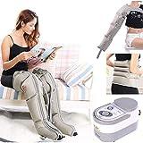 xjzhang massaggiatore per gambe a compressione d'aria per massaggio circolatorio del piede e del polpaccio pressoterapia stivali massaggiatore piede caviglie polpaccio gamba vita braccio massaggio