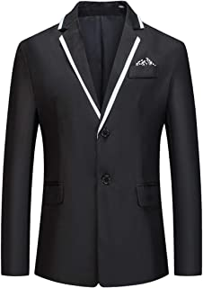 YOUTHUP Mens Slim Fit Blazer 2 Buttons Wedding Party Suit Jacket Lightweight Notch Lapel Blazers