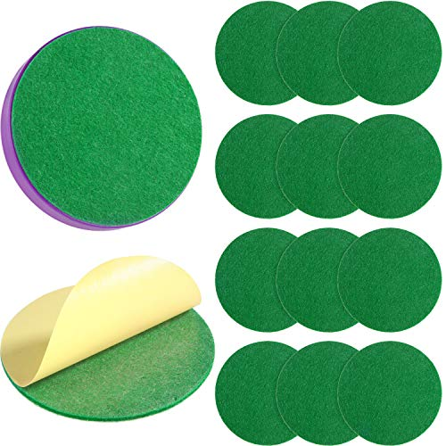 Find Bargain 94 mm Air Hockey Mallet Felt Pads Replacement Air Hockey Pushers Pads Green Self Adhesi...