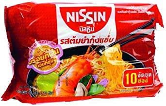 Nissin Instant Noodle Tom Yum Kung 60 G. Pack 10