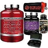 Scitec Nutrition 100% Whey Protein Professional 2350gr Proteine Siero del Latte + 375 BCAA 6400 Aminoacidi...