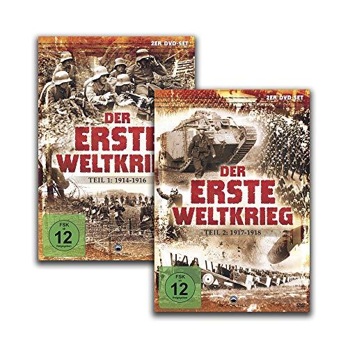 Der Erste Weltkrieg : Teil 1 (1914-1916) + Teil 2 (1917-1918) [4 DVD-Set]