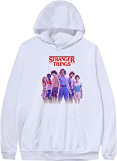 Unisexe Sweat Stranger Things Enfant Fille Eleven Sport Sweat-Shirt a Capuche Sweat Shirt Homme Mode Pas Cher Hoodie Sweatshirt Fan de S/éries TV Pull Stranger Things Femme