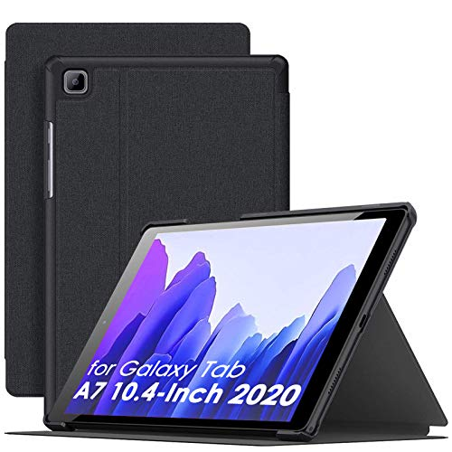 Supveco Galaxy Tab A7 Case 10.4 2020, Shockproof Stand Cases for Samsung Galaxy Tab A7 10.4 with Multi Viewing Angle & Anti-Slip Book Cover for Galaxy Tab A7 10.4 Inch [SM-T500/T505/T507] (Black)