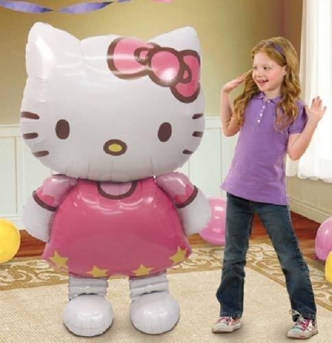 LoonBalloon HELLO KITTY Cat Air WALKER Airwalker 50' Figure Birthday Party Mylar Balloon