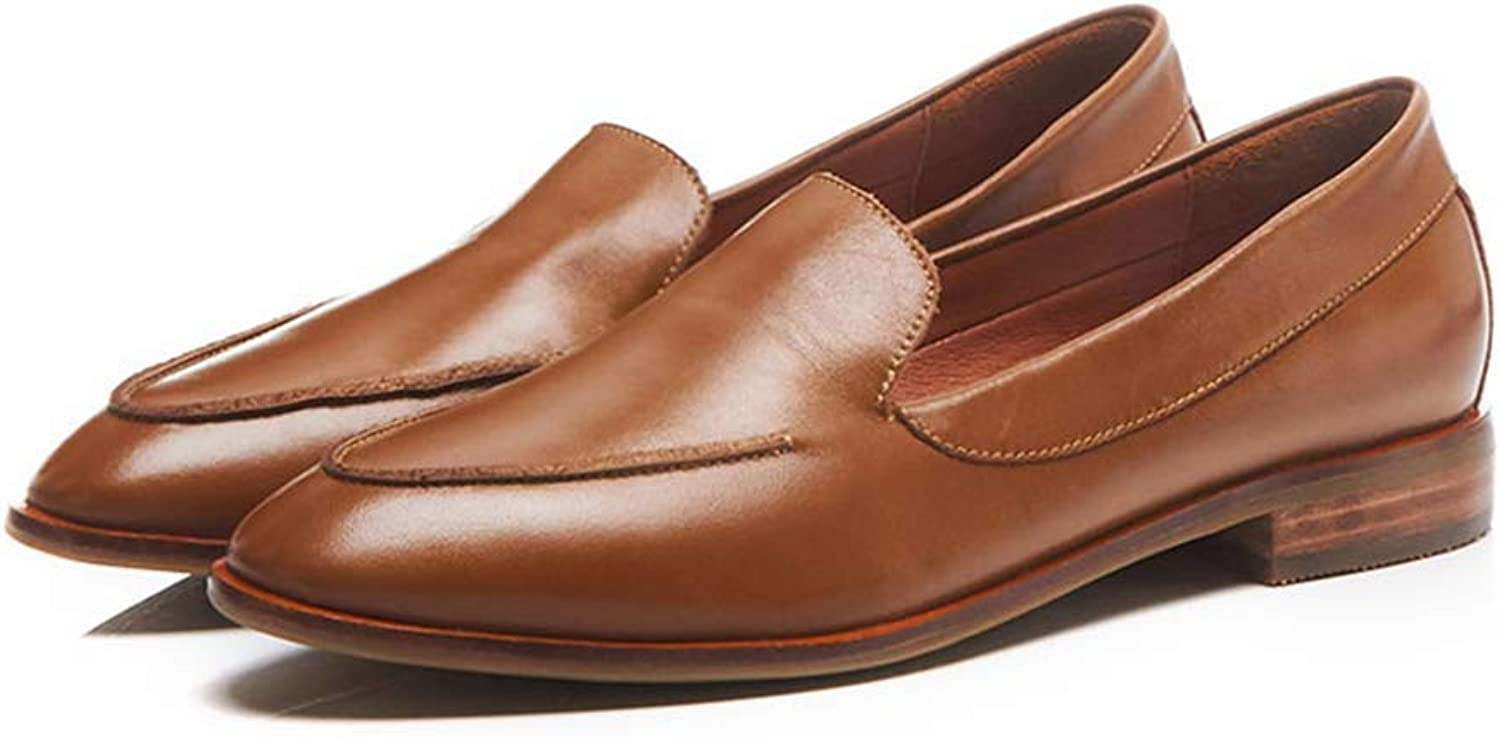 T-JULY Women Soft Leather Comfortable Oxford Loafers shoes Ladies Casual shoes