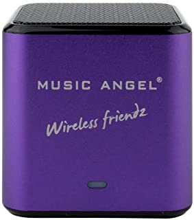 Music Angel Wireless Friendz Universal Bluetooth Stereo Speaker with 30 Hours Playtime for iPhone 6, 5s, 5, iPad Air, Mini...