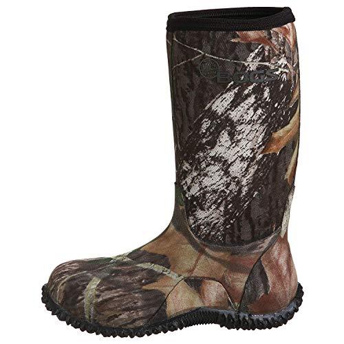 BOGS Boy's Classic High Waterproof Insulated Rain Boot, Mossy Oak, 6 Big Kid