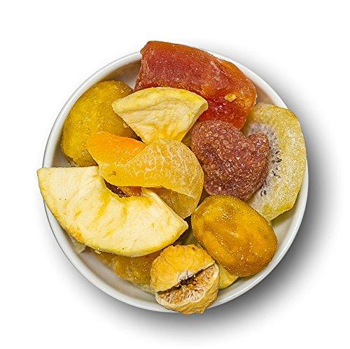 Karamellisierter Sahnereis mit kandierten Früchten