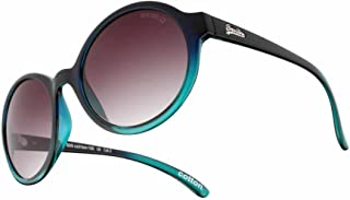 Blue and Green Cotton Round Sunglasses Lens Category 3