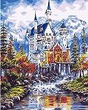 Pintura digital de bricolaje adulto preimpreso lienzo pintura al óleo regalo niños set decoración del hogar- 40x50cm (con marco)