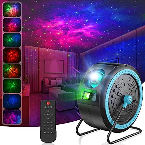 LED Sternenhimmel Projektor, Projektionslampe Nachtlicht Musik Player mit...