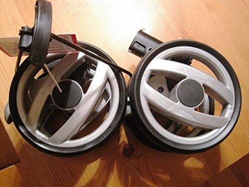 Peg Perego Double roue arrière Noir/gris pour Pliko P3 Compact Collection 2011 et 2012