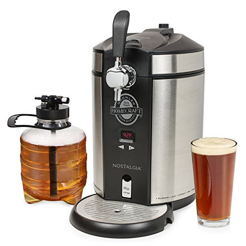 Nostalgia Homecraft On Tap Beer Growler Cooling System, 5L, Stainless Steel
