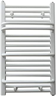 FGVBC Toalleros con calefacción (tamaño 750 X 450 Mm), Secador de Toallas Blanco, Radiador de baño de Acero con Poco Carbono, 400 W, Estantes de
