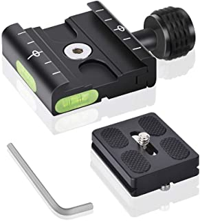 """UTEBIT 50 mm Quick Release camera snelwisselplaat klem plaat adapter statief snelkoppeling met wisselplaat 1/4"""" 3/8"""" schro..."""