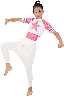 Girl Sequin Dance Outfits Hip Hop Dance Dress Gym Suit