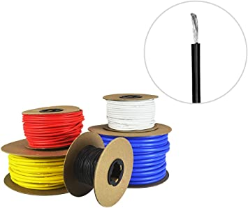 Details about  /Silicone Wire 22 AWG 16 Feet  Electric Wire Strands of Tinned Copper Wire Blue