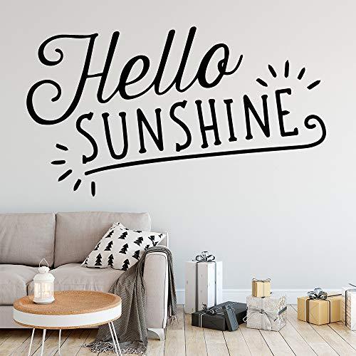 Exquisite Sunshine Selbstklebende Vinyl wasserdichte Kunst Wandaufkleber Kunst Aufkleber Gelb M 30cm X 53cm