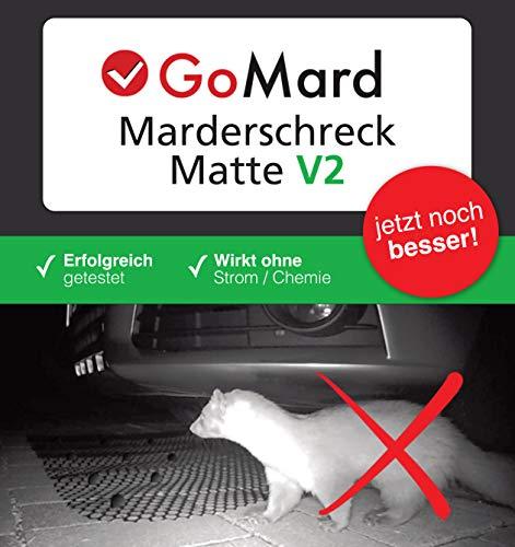 GoMard MARDERSCHRECK V2 | Auto Marderschutz-Matte | für ALLE KFZ GETESTET gegen Marder und Katzen