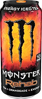Monster Rehab Tea + Energy Drinks 6 - 15.5oz Cans (Orangeade)