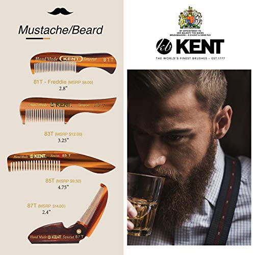 Kent Hand Made Beard and Moustache Comb (81T) by Kent (English Manual)