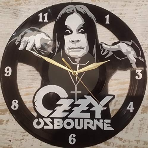 DIY Ozzy Osbourne Decorative Designed Modern Vinyl Record Wall Clock Silent Large New Bedroom Livingroom Office Decore Analog Universal Decorate Your Home Best Gift for Friend, Girlfriend or boyfrien