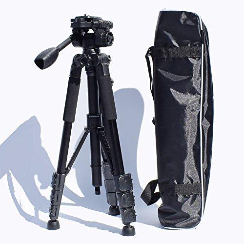 Treppiede, Zabert DSLR treppiede con testa, 147,3cm professionale SLR treppiede per Canon Nikon Sony fotografia outdoor, heavy duty
