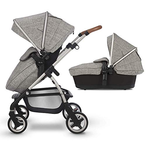 Silver Cross Wayfarer Complete 2-in-1 Pram System With Reclining Pushchair Seat and Newborn Baby Carrycot, Camden
