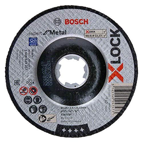Bosch Professional gekröpfte Trennscheibe Expert (für Metall, X-LOCK, Ø125 mm, BohrungsØ: 22,23 mm, Dicke:2,5 mm)