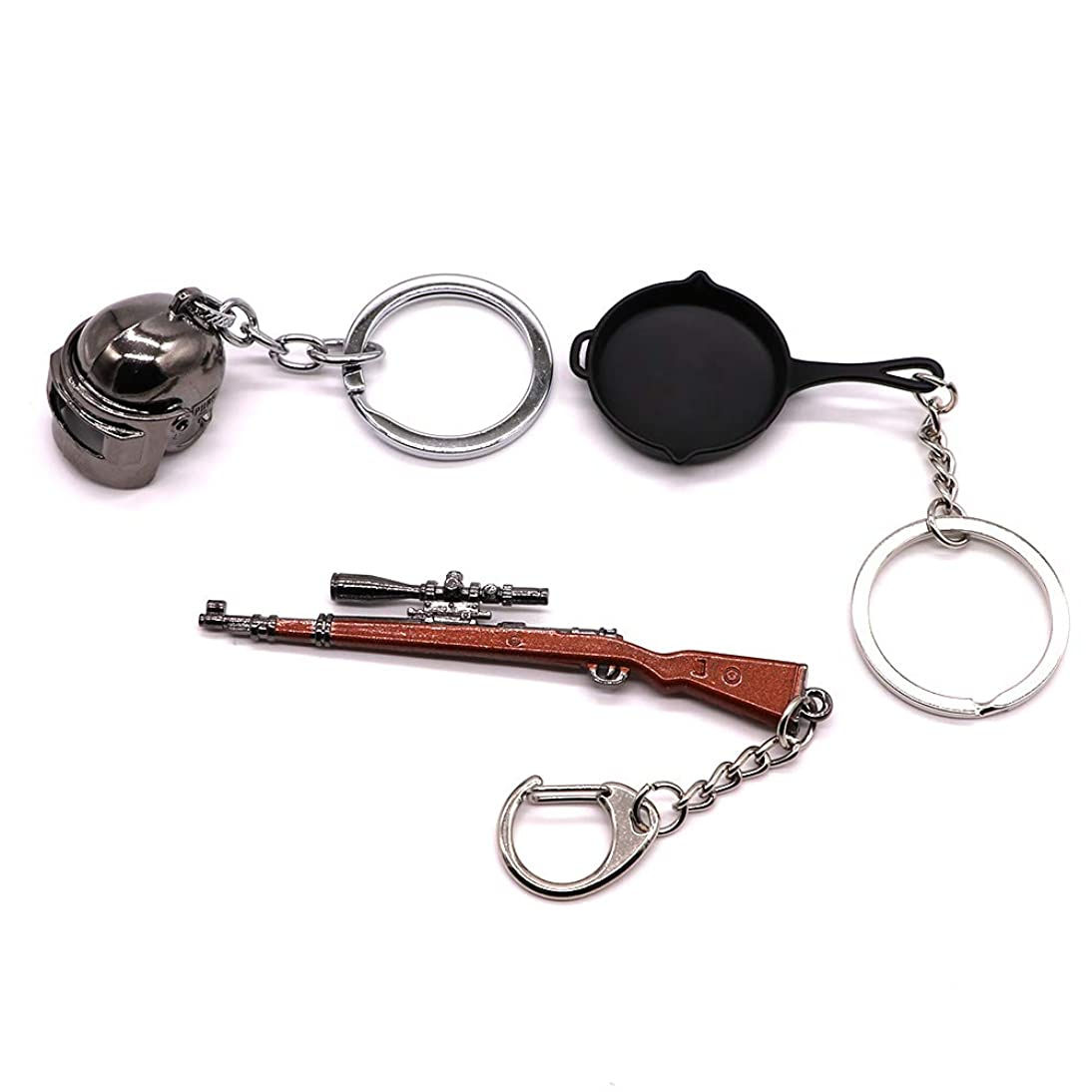 AVEC JOIE Mini Metal Shooting Gun Model Keychain Pendant Keyring Tank Sniper Rifle and Pistol Pendant Keychain Gift for Boyfriend Weaphones and Gun Enthusiasts kvvq708175001270