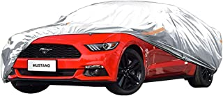 FlyDu Fundas para Coche Ford Mustang Coche Cubierta del Coche Coche GM Invierno Nieve Protección Frost Media Longitud Media Cubierta Chaqueta Frente del Parabrisas del Coche Cubierta anticongelante
