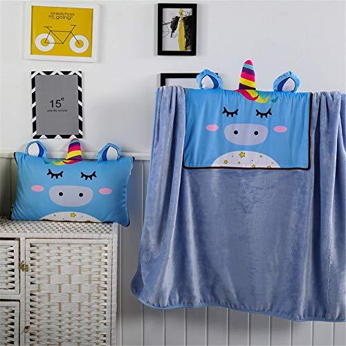 ReedG Mantas de Cama Multifuncional de Dibujos Animados de Doble propósito Almohada Manta Forma Animal Creativo Infantil Almohada Edredón/Manta (Color : C, Size : 30x50cm)