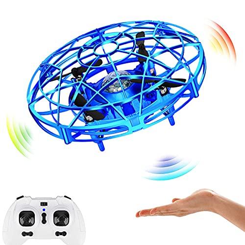 Maproti Mini droni per Bambini, Telecomandi Multipli - Quadricottero Portatile RC, LED a Mani Libere UFO Giocattoli a Palla Volante Azionati a Mano Regali Bambini, Ragazzi e Ragazze