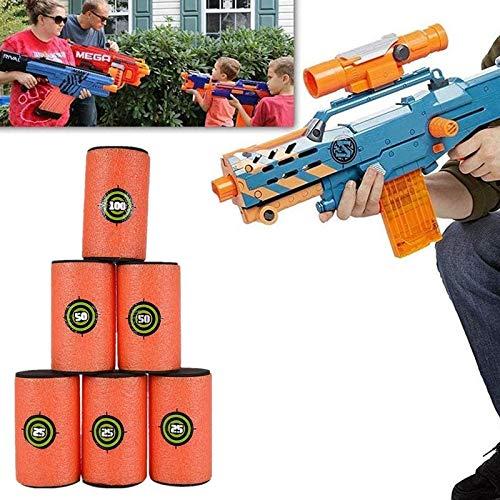 "12Pcs Large Size EVA Soft Kids Toy Gun Bullet Targets for Nerf N-Strike Elite Series Blasters,3.9"" x 2.4"""
