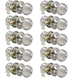 satin door knobs - Probrico Satin Nickel Bed/Bath Door Knobs Privacy Door Knobs Interior Bathroom Locks Wholesale (10 Pack)