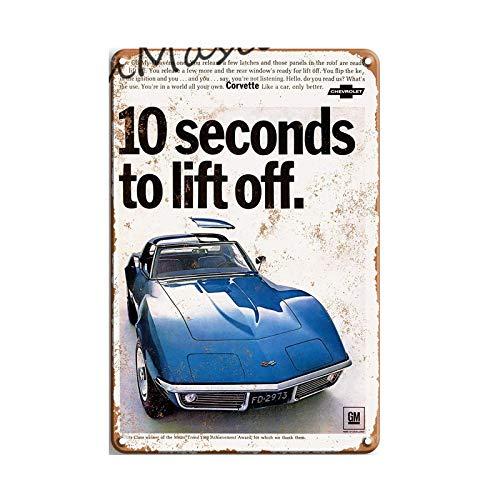 Vintage Cobra Mustang Logo Retro Metal Sign Cartel de chapa Garaje Art Deco Poster Placa decorativa 20x30cm 50578
