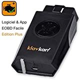 klavkarr 210 - Valise Diagnostic Auto Multimarque OBD2 Bluetooth - 100% Français - Prise OBD Diagnostique Voiture Diesel & Essence sur iPhone/Android