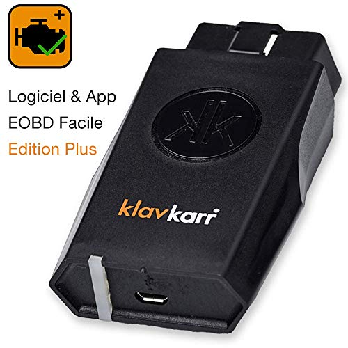 klavkarr 210 - Valise Diagnostic Auto Multimarque OBD2 Bluetooth - 100% Français - Prise OBD Diagnostique Voiture Diesel & Essence sur iPhone/Android