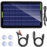 ECO-WORTHY 18 V 12 V 10 W Soalr Panel Solar Auto Power con pinza de cocodrilo