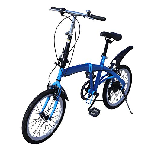 20 Zoll Faltrad aus Kohlenstoffstahl 7-Gang Klapprad Höhenverstellbar 70-100mm Maximales Ladegewicht: 90 kg Blau