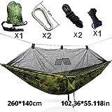 Bureze Moskitonetz Armee Hängematte Moskitonetz Camping Hamaca Hammack Ultraleicht Outdoor Camping Jagd Moskitonetz 260 Camouflage