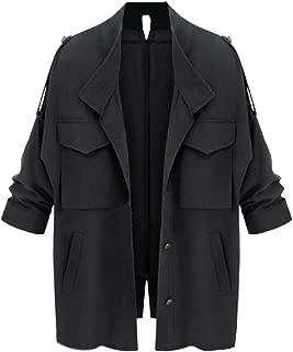 MogogoWomen Pure Color Maxi and Midi Jacket Trench Overcoat Cardigan
