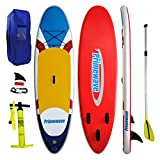 "Primewave Inflatable Stand Up Paddle Board 10' Long 33"" Wide 6"" Thick Military"