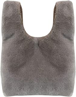 COAFIT Women's Handbag Solid Color Slouchy Fuzzy Top Handle Tote Bag