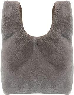 COAFIT Women's Handbag Solid Color Slouchy Fuzzy Top Handle Tote Bag