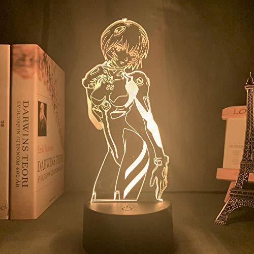 Anime Lampe Neon Genesis Evangelion für Raumdekor 3D Nachtlicht Rgb Bunte Schreibtischlampe iLight Ayanami Rei Manga Geschenk