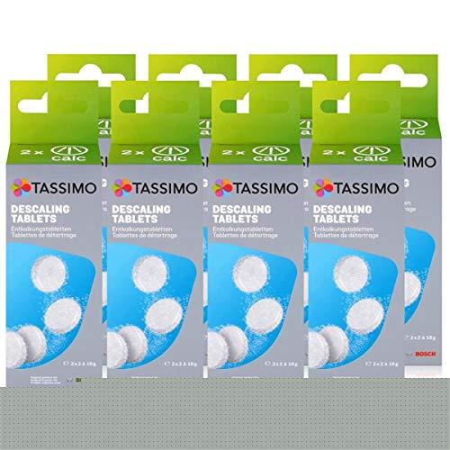 Bosch TCZ6004 Enkalkungstabletten für alle Tassimo Getränke-Automaten ( 8er Pack )