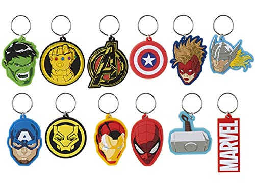 1 x Sent at Random Action Super Hero - from The Set of Avenger 2D Keychains, Ideal Party Bag/Stocking Fillers.