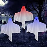Halloween Hanging Ghosts Decorations Light up for Halloween Holiday Party Decoration Outdoor Indoor, 27.5 Inch 3 Packs for Yard Tree Haunted House Decor